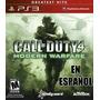 Call Of Duty Modern Warfare En Español | Mza Games | Ps3
