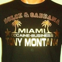 Camisa Dolce & Gabbana Scarface Tony Montana P, M, G E Gg