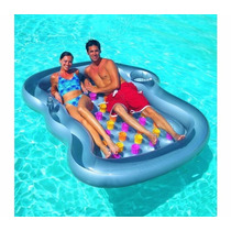 Colchoneta Inflable Para Pileta Doble Lounge Bestway 43045