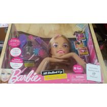 Barbie All Dolled Up Cabeza Peinar Maquillar Pintar Uñas