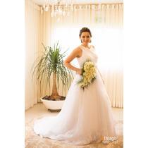 Vestido De Noiva Branco Princesa Mula Manca