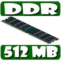 Memoria Ram Ddr Para Pc 512 Mb Bus 400 Pc2 3200 Usadas