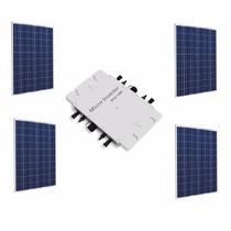 Kit Panel Solar Interconexión 1000w 4 Paneles + Inversor