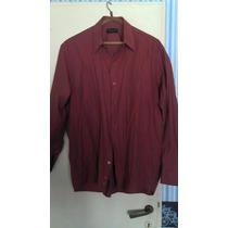 Camisa De Vestir Bordó Marca Macowens - Talle L/ 42