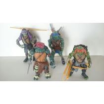 Tartarugas Ninjas Filme 4 Bonecos Articulados + Armas