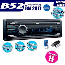 Autoestereo B52 Rm-2017 Usb Mp3 Frente Desmontable Lcd Mdp