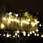 Luces De Navidad Blanco Calido Redondas 80 Perlada