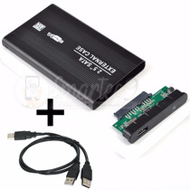 Carry Carrier Disk Sata Case Disco Rigido 2.5 + Cable + Kit