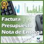 Facturación Presupuesto Nota De Entrega Plantilla Hoja Excel