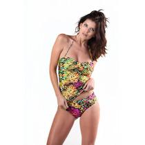 Tankini Bandeau Con Taza Soft Y Bikini Con Cintura Tout