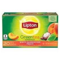 Lipton Té Verde Superfruta Blanco Mangostán Peach 20 Ct (paq