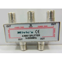 Splitter De 4vias 5-2050 Mhz Especial Antena Satelite