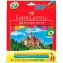 Lápis De Cor 24 Cores + 2 Canetas Vai E Vem Faber Castell