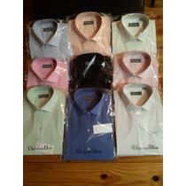 Camisas Vestir Dior Lisas Pack X 4 Excelente Calidad !!!