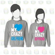 Buso Chompa Estampado Personalizado Love My Crazy .x2 Novios