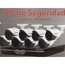 Kit De Seguridad Secutech 8 Camaras Dvr 8 Canales Disco 500g
