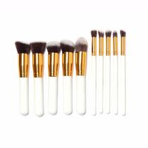 Maquiagens - Kit Maquiagem Com 10 Pinceis