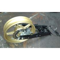 Sistema De Freio Traseiro + Roda Dianteira Dourada Cb300/15
