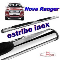 Estribo Oval Aço Inox Cromado Nova Ranger 2016 2017
