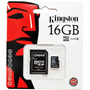 Memoria Micro Sd 16 Gb Kingston Class 10 Sellada Gtia 1 Año