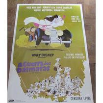 Cartaz De Cinema Desenho Disney A Guerra Dos Dálmatas Raro!!