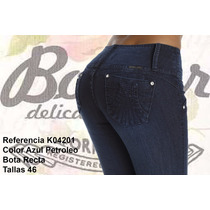Jeans Colombianos Push Up Color Azul Petroleo / Grupoborder