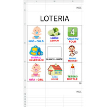 Lotería Didáctica Bilingüe Español E Inglés Para Imprimir