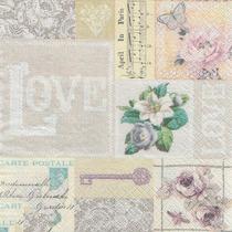 Guardanapo P/ Decoupage Toke E Crie Amor Vintage C/ 20
