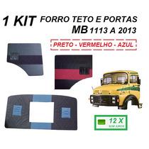 Kit Par Forro Porta + Forro Teto Caminhão Mb 1113 1114 2013
