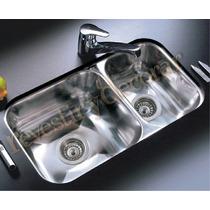 Pileta Doble De Cocina-johnson-modelo R37-18-(63x34x18)