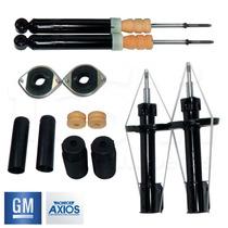 4 Amortecedores Turbogás + Kits Axios Corsa Celta Prisma