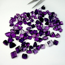Lote Fluoritas Naturais Lapidadas 255.0 Quilates 104 Pedras