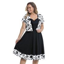 Moda Plus Size - Lindo Vestido Preto