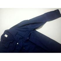 Camisa De Drill Azul Marino