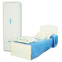 Juego Dormitorio Cama Infantil Fiona + Placard 22 Mosconi