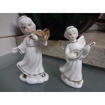Anjinhos Em Porcelana - Casal De Anjinhos Musicos