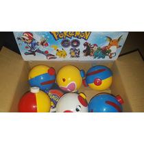 Pokemon+ Pokebolas 6 Unidades + 6 Pokemones