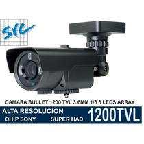Camara Seguridad 1200 Tvl 3 Super Led Array Full Hd 1/3 Sony