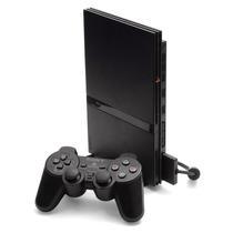 Playstation 2 Ps2 Desbloqueado Usado + 1 Controles + Jogo