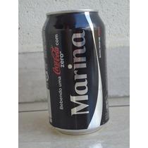 Lata Coca Cola Zero Vazia - Nomes - Marina