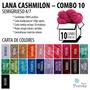 Lana Cashmilon Acrilico Semigrueso Combo 10 Madejas