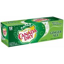 Refrigerante Canada Dry Ginger Ale - Caixa 12 Latas - Eua