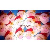 Figuras De Navidad Caras De Papa Noel, Reno En Goma Eva