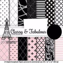 Kit Imprimible Pack Fondos Con Clase Y Fabulosa, Elegante 1