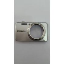 Carcaça Câmera Samsung Pl20 Original Prata Com Botões Prata