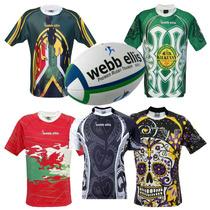 Combo Camiseta Rugby Webb Ellis Euro A Elección + Pelota