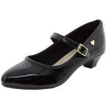 Sapato Infantil Feminino Verniz/preto - 2166101 Molekinh