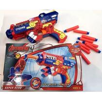 Nerf Pistola Homem Aranha Arma Atira Dardos Spider Avengers