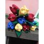 10 Flores Tulipa De Tecido No Lápis - Lembrancinha (cores)