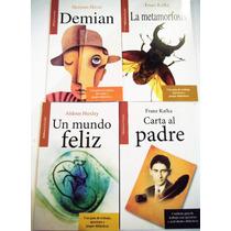 Paquete 4 Libros Carta Al Padre Metamorfosis Demian Mundo Fe
